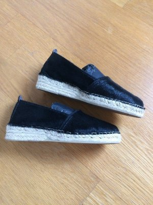 Moccasins black leather