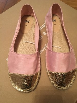 H&M Ballerinas gold-colored-pink