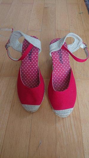 Espadrille Sandals beige-red