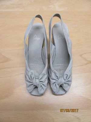 Espadrille Sandals light grey linen