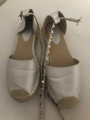 Alpargatas color plata-color oro