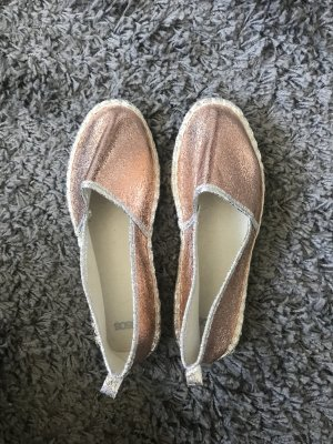 Espadrilles rose metallic
