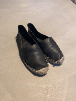 Espadrille sandalen zwart-beige