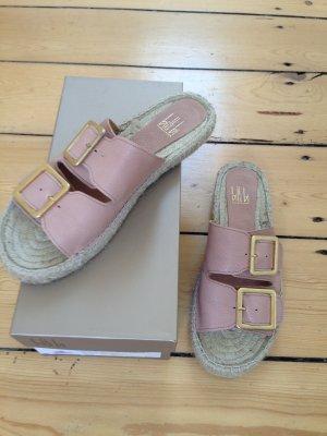 Espadrilles-Sandalen mit Schnallen