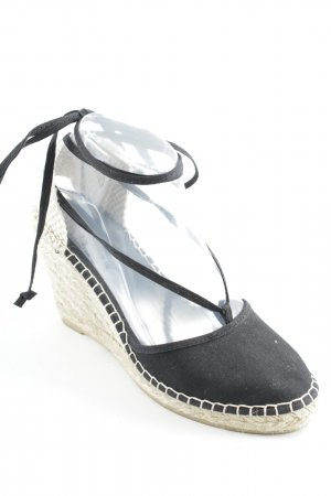 Espadrilles-Sandalen schwarz Casual-Look