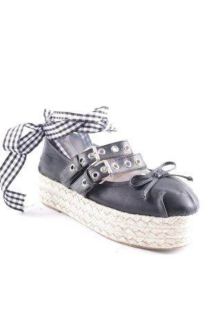 Espadrille Sandals black casual look