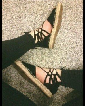 espadrilles Sandalen schwarz Gr. 38 H&M