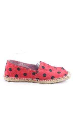 Espadrille Sandals brick red-black spot pattern casual look