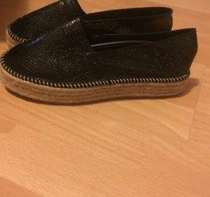Espadrilles Schuhe schwarz Glitzer Glitter 38,5