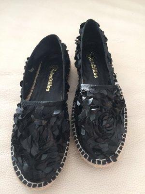 Espadrilles, schwarz, neuwertig