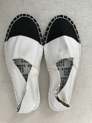 Zalando Collection Espadrille sandalen wit-zwart