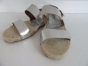 Gaimo Espadrilles High-Heeled Sandals silver-colored