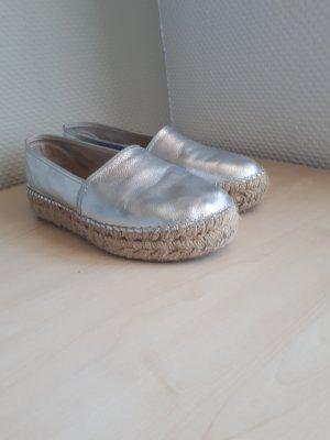 Espadrilles Silber/Grau