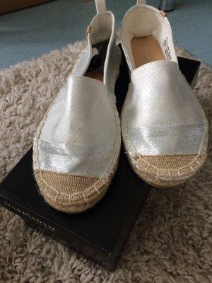 Espadrilles Silber/weiß