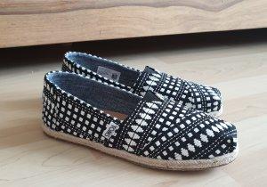 Toms Zapatos sin cordones blanco-negro