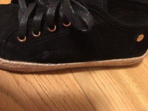 Espadrilles Sneaker in schwarz, NEU