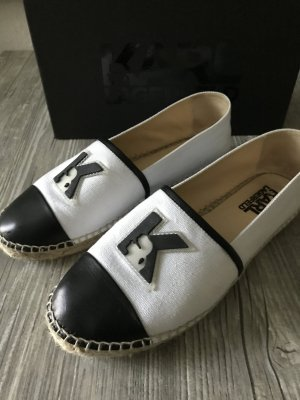 Karl Lagerfeld Moccasins white-black