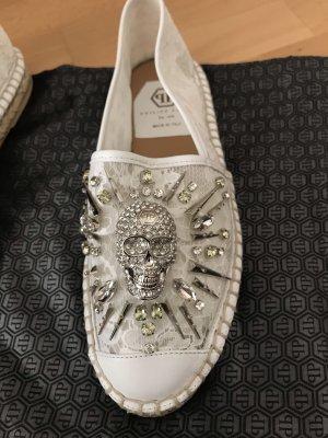 Philipp Plein Slip-on Sneakers white-cream