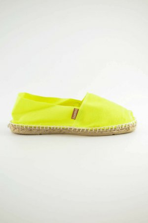 ESPANDRIJ Damen Espandrilles Neon-Gelb Canvas Jute Sommer Gr.38 Neu!