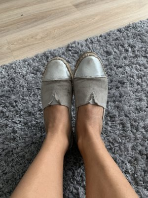 Espadrille Sandals light grey-silver-colored