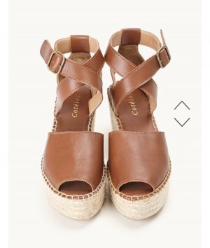 Platform High-Heeled Sandal brown-cream