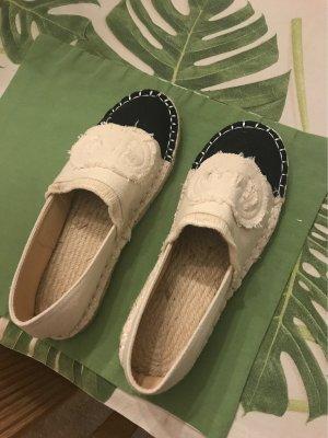 Alpargatas blanco puro-negro