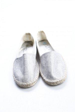 Espadrille sandalen zilver-lichtgrijs