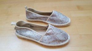 Tamaris Espadrille sandalen zilver-goud