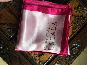 ESPECIALLY ESCADA Tuch Schal rosa pink Satin Halstuch ca. 100 x 100 cm BOX NEU