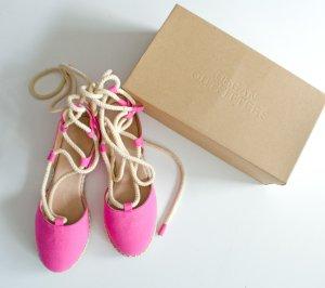 Espradrilles von Urban Outfitters aus London, Lace-Up, Größe 40, schmaler Fuß