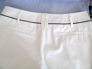 esprit collection 3/4 Length Trousers white-dark blue cotton