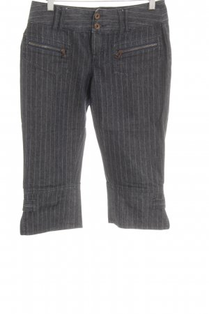 Esprit Pantalón pirata azul oscuro-gris estampado a rayas Estilo años 80