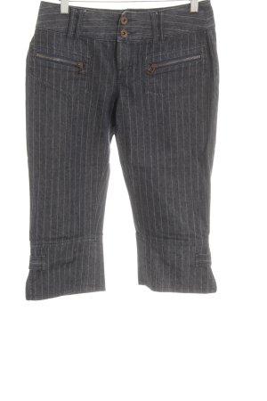 Esprit 3/4-Hose dunkelblau-grau Streifenmuster 80ies-Stil