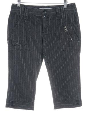 Esprit Pantalone a 3/4 grigio scuro-grigio chiaro gessato stile casual