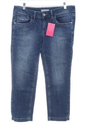 Esprit Jeans 3/4 bleu foncé-bleu Aspect de jeans