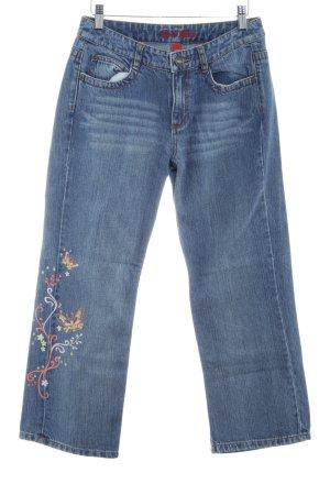 Esprit Jeans 7/8 bleu acier pailleté
