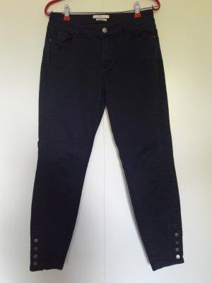 Esprit 7/8 Skinny Hose dunkelblau mit Knöpfen Gr. 36/30