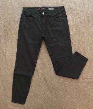 ESPRIT 7/8 Stoffhose, eng anliegend, schwarz, Größe 40, neuwertig/ungetragen