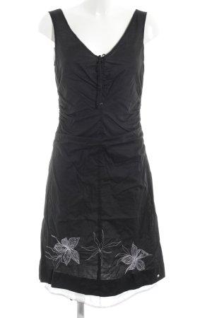 Esprit A-Linien Kleid schwarz Blumenmuster Elegant