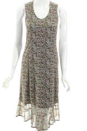 Esprit A-Linien Kleid abstraktes Muster Retro-Look