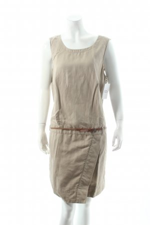 Esprit A-Linien Kleid beige Nude-Look