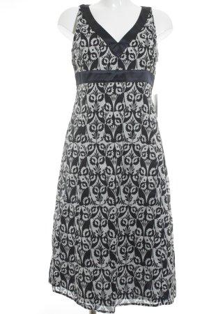 Esprit A-Linien Kleid blau-wollweiß florales Muster Vintage-Look