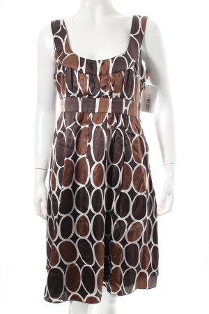 Esprit A-Linien Kleid dunkelbraun-braun Kunstmuster Beach-Look