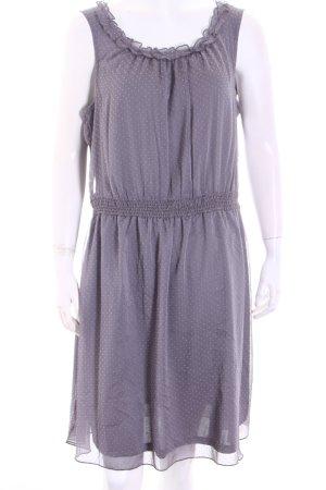 Esprit A-Linien Kleid grau Punktemuster Elegant