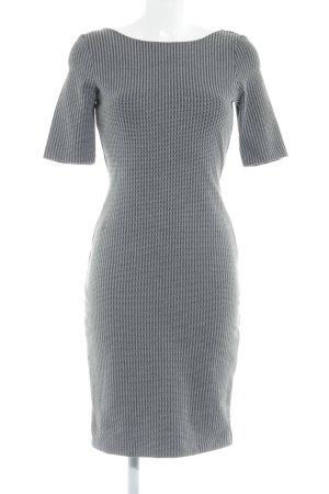 Esprit A-Linien Kleid grau Streifenmuster Business-Look