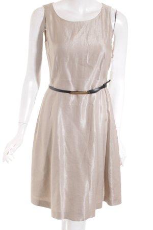 Esprit A-Linien Kleid graubraun Glanz-Optik