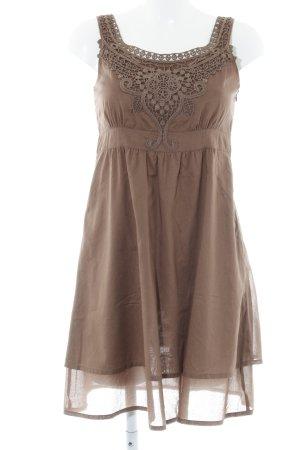 Esprit A-lijn jurk lichtbruin romantische stijl