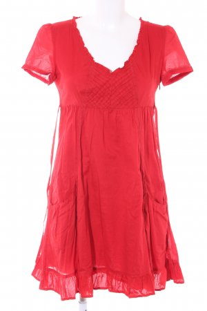 Esprit A-Linien Kleid rot Country-Look
