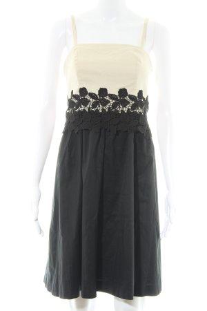 Esprit A-Linien Kleid schwarz-creme florales Muster Casual-Look