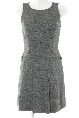 Esprit A-lijn jurk zwart-lichtgrijs Webpatroon Britse uitstraling